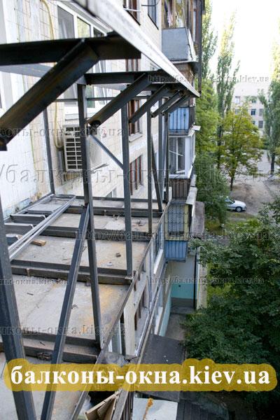 Расширение балкона по полу, увеличиваем размеры плиты.