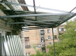 Вынос балконов - киев. остекление балконов с выносом.