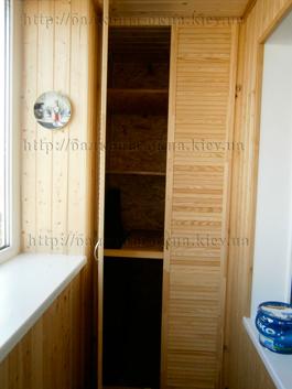 Обшивка балкона в киеве - цена, внутренняя обшивка балконов .