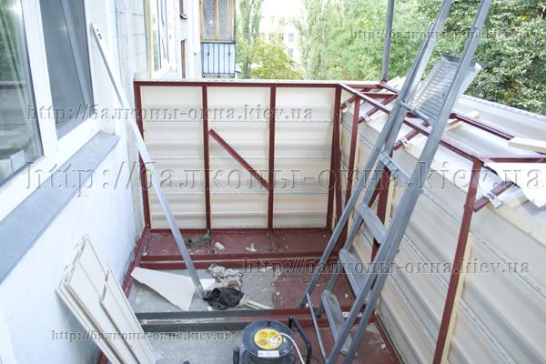 Конструкция выносного балкона..
